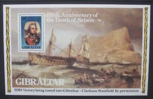 GIBRALTAR-1980-Nelson-Paintings-Souvenir-Sheet-Mint-Never-Hinged-SGMS441