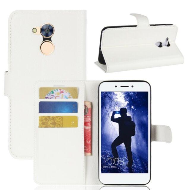 Cartera De Bolsillo Premium Blanco para Huawei Honor 6a Estuche Cubierta NUEVO
