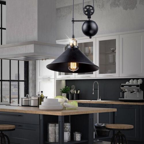 LED Pendel Leuchte Flur RGB Decken Lampe Flaschenzug Farbwechsel Strahler DIMMER