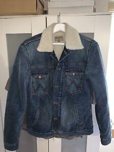 eccellenti Size Sherpa Denim Uomo Small Condizioni Used Wrangler Jacket w8UU5zIxq