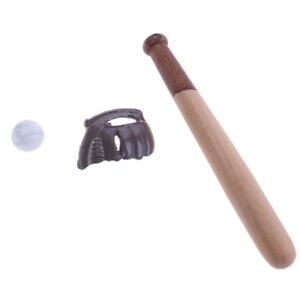 1-12-Dollhouse-miniature-furniture-sport-accessory-baseball-bat-amp-mitt-set-3C
