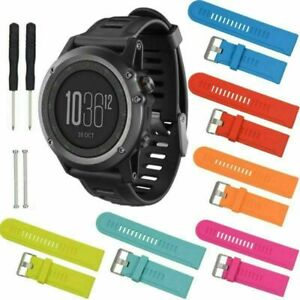 Silicona relojes de pulsera brazalete Strap para Garmin Fenix 2/3/d2/hr/quatix/marine GPS