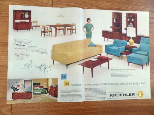 kroehler furniture ad the new idea collection new concept in decorating - Kroehler Furniture