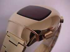 MEN IN BLACK II 2 GOLD 70s Vintage Style LED LCD DIGITAL Rare Retro Mens Watch