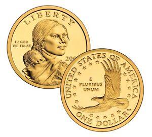 2000 P /& D Sacagawea Dollar $1 Coin ~STUNNING~GEM BU~   ***  2 Coins  ***