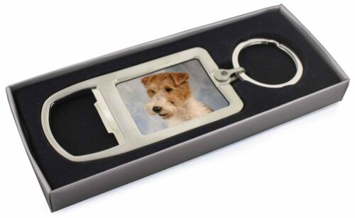 Fox Terrier Dog Chrome Metal Bottle Opener Keyring in Box Gift Idea, ADWHT1MBO