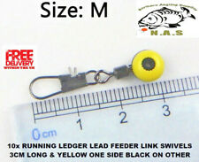 10X  RUNNING LEDGER LEAD FEEDER LINK SWIVELS BEADS SNAP CARP BOLT PULLEY RIG Hot