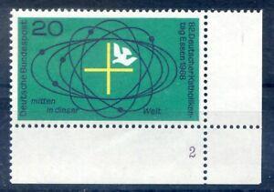 Bund-BRD-568-Ecke-4-FN2-20-Deutscher-Katholikentag-Essen-Postfrisch-1968