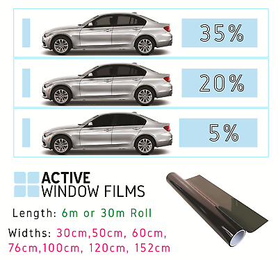 Smoke Tinted Window Film Limo Dark Privacy Tint 5/% up to 152 cm