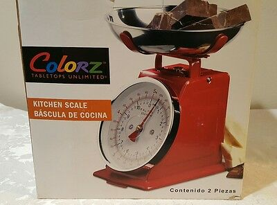 NEW BY COLORZ-RETRO RED MECHANICAL KITCHEN SCALE 11# MATCH EMPIRE RED KITCHENAID