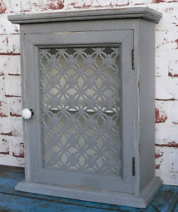 Wandschrank Grau.Details Zu Wandschrank 40cm Grau Holz Holzschrank Schrank Hängeschrank Shabby Schränkchen