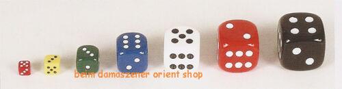 1 Paar Acryl  Würfel Zahr Nerd für Backgammon verschiedene Farben & Grössen Neu