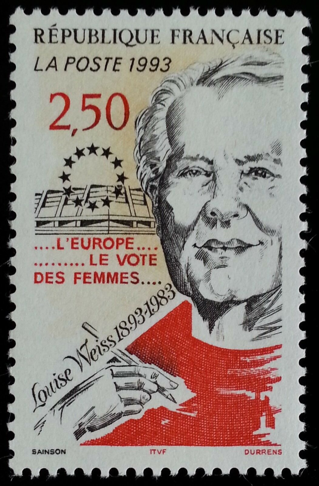1993 France Louise Weiss, Suffragist Scott 2361 Mint F/