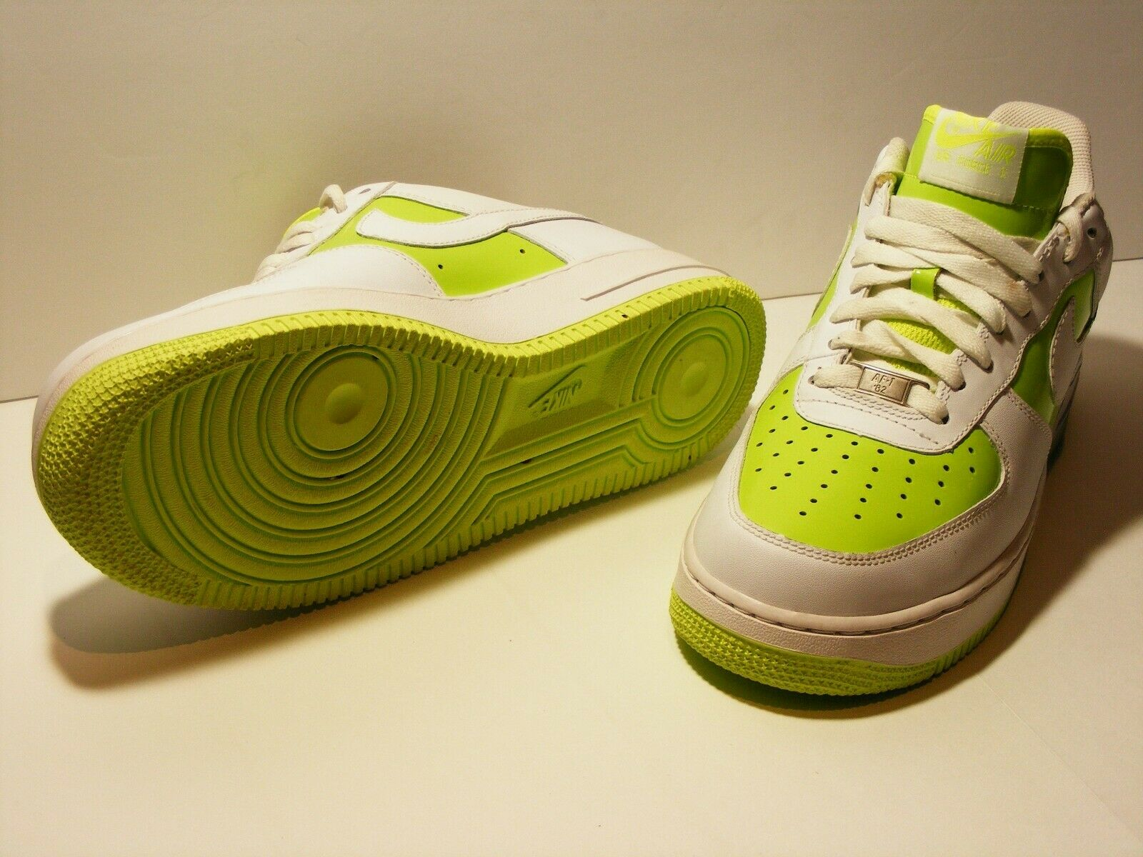 Nike WMN Air Force Force Force 1 Low Volt Lime White 315115-712 US 10.5 517415