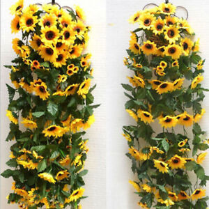 2-5-M-Artificial-Silk-Sunflower-Garland-Vines-Home-Wedding-Garden-Hanging-Decor