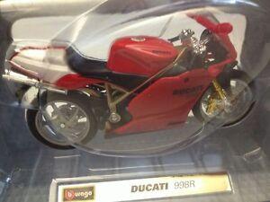 Moto-Ducati-SuperSport-998R-Scala-1-18-Die-Cast-Bburago-Nuovo