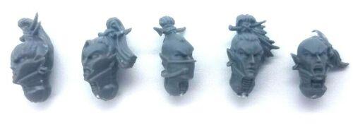 Drukhari Dark Eldar KABALITE WARRIOR//WYCHES Tête x5 en plastique 40k