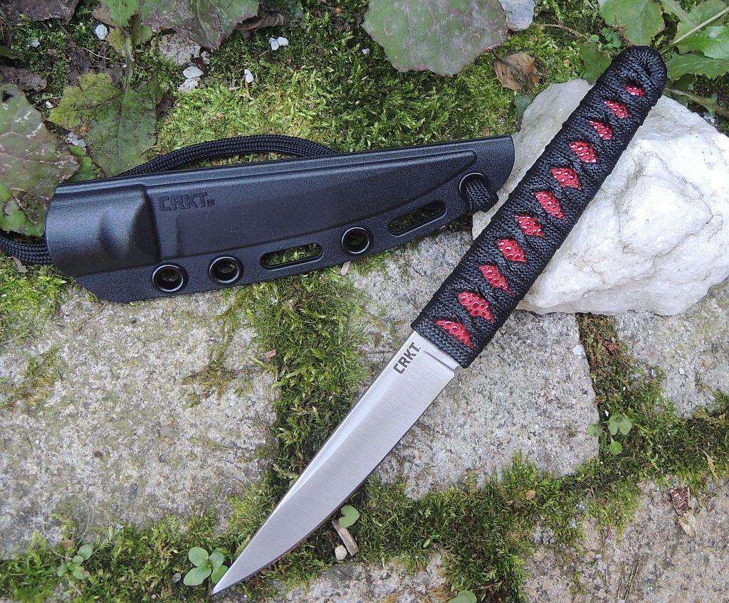 CRKT Messer OBAKE OBAKE OBAKE rot Satin Fixed Blade 8Cr14MoV Stahl Paracord Griff + Scheide fcaa71