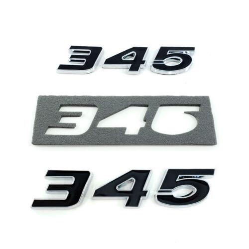 2pc New Black 345 HEMI emblem Chrome Trim includes Passenger /& Driver