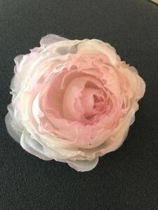 Light Pink Silk Organza Rose Artificial Flower Bridal Wedding