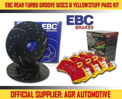 E91 2010-12 EBC REAR GD DISCS YELLOWSTUFF PADS 300mm FOR BMW 320 2.0 TD