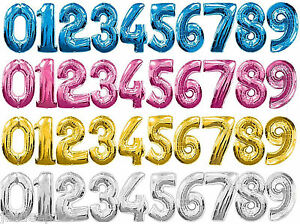 Image Is Loading Giant Number Foil Balloons 0 9 Supershape Happy