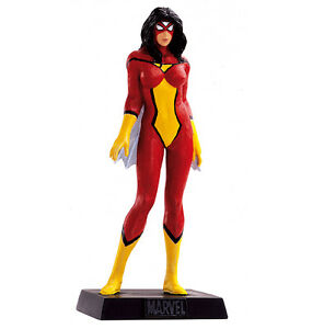 SPIDER-WOMAN-Lead-METAL-Figure-61-Marvel-EAGLEMOSS-Collection-MINT-BOX-No-Mag