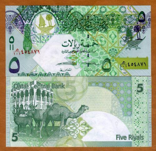 ND Qatar New 2015 Signature 5 Riyals UNC /> Camels 2008 P-29b