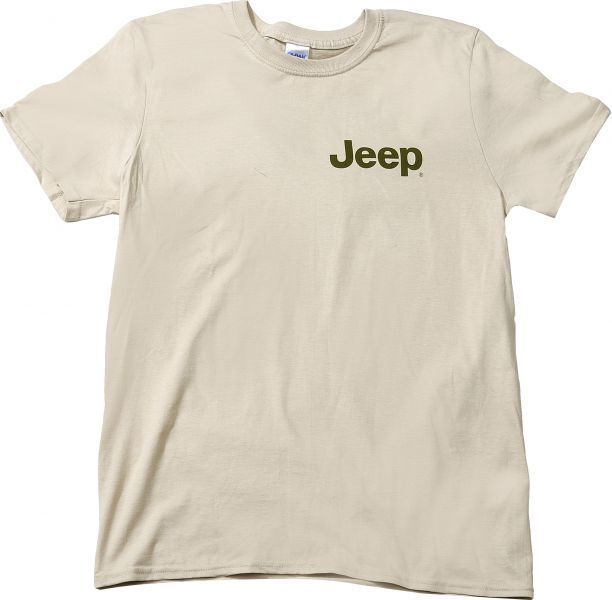 Jeep Shirt T-Shirt Jeep® Logo Road Ends Tee Shirt in Tan