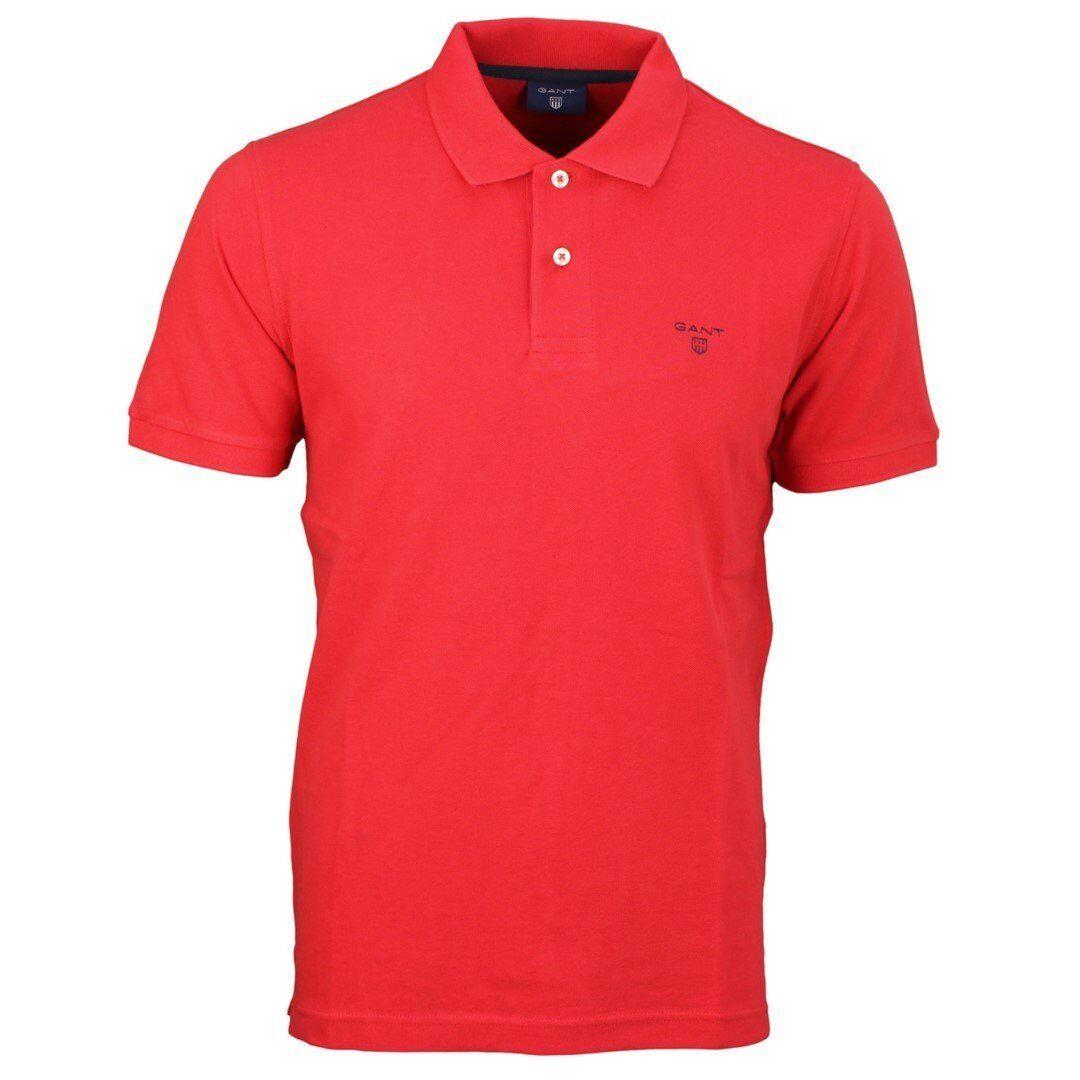 Gant Men's Polo Shirt Red Plain 232110 620