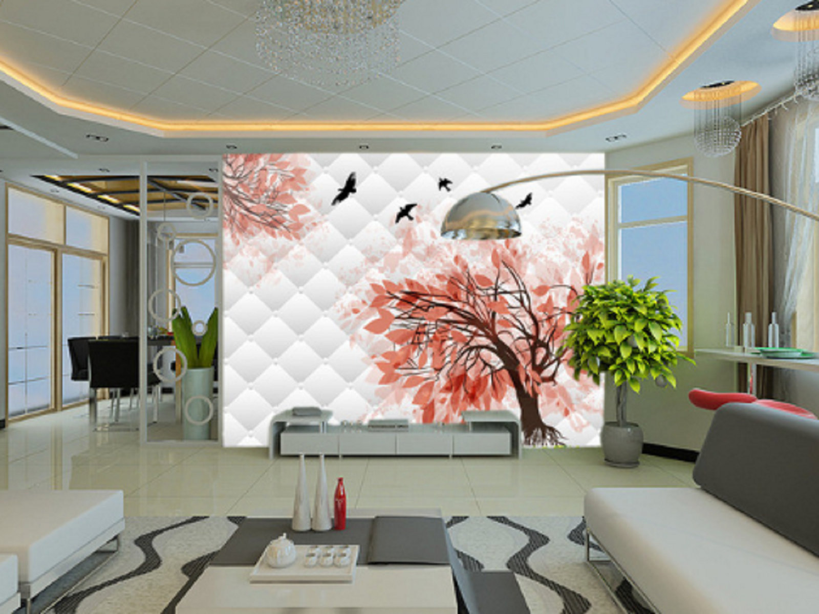 3D Rosa Trees Trees Trees Birds 75 Wall Paper Murals Wall Print Wall Wallpaper Mural AU Kyra 3df186