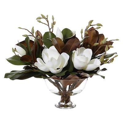 NEW Rogue Artificial Magnolia with Dahlia Vase