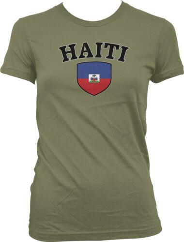 Haiti Flag Crest Haitian Ayiti Hispaniola National Country Pride Juniors T-shirt