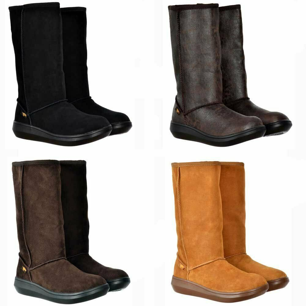 Rocket Dog Sugar Daddy Classic Cow Suede Winter Boots Black Chestnut Brown New