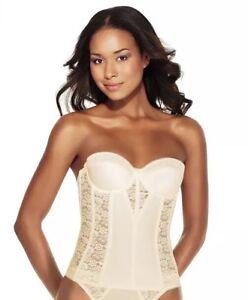 Dominique Womens Colette Lace Corset Bridal Longline Bra 8949