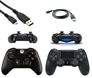 black micro usb charger cable for ps4 dualshock 4 xbox one wireless controller ebay. Black Bedroom Furniture Sets. Home Design Ideas