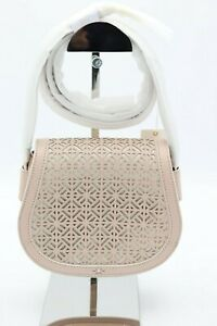 NWT-Tory-Burch-Fret-T-Light-Oak-Leather-Saddlebag-Crossbody-Shoulder-Bag-450
