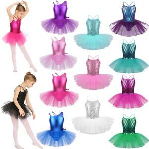 Girls-Gymnastic-Leotard-Dress-Ballet-Tutu-Skirt-Princess-Ballerina-Dance-Costume