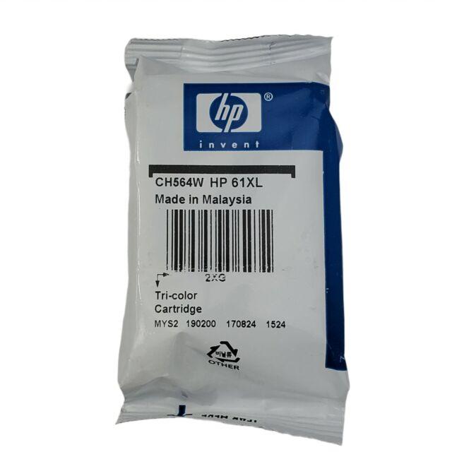 Genuine HP 61XL Tri-Color Ink in Foil Bag Sealed   CH564W   Exp: 02/2019