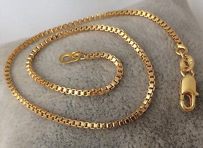Apprehensive Gorgeous Gold Layered Box Chain Anklet Bracelet 10'' Mb73 Anklets