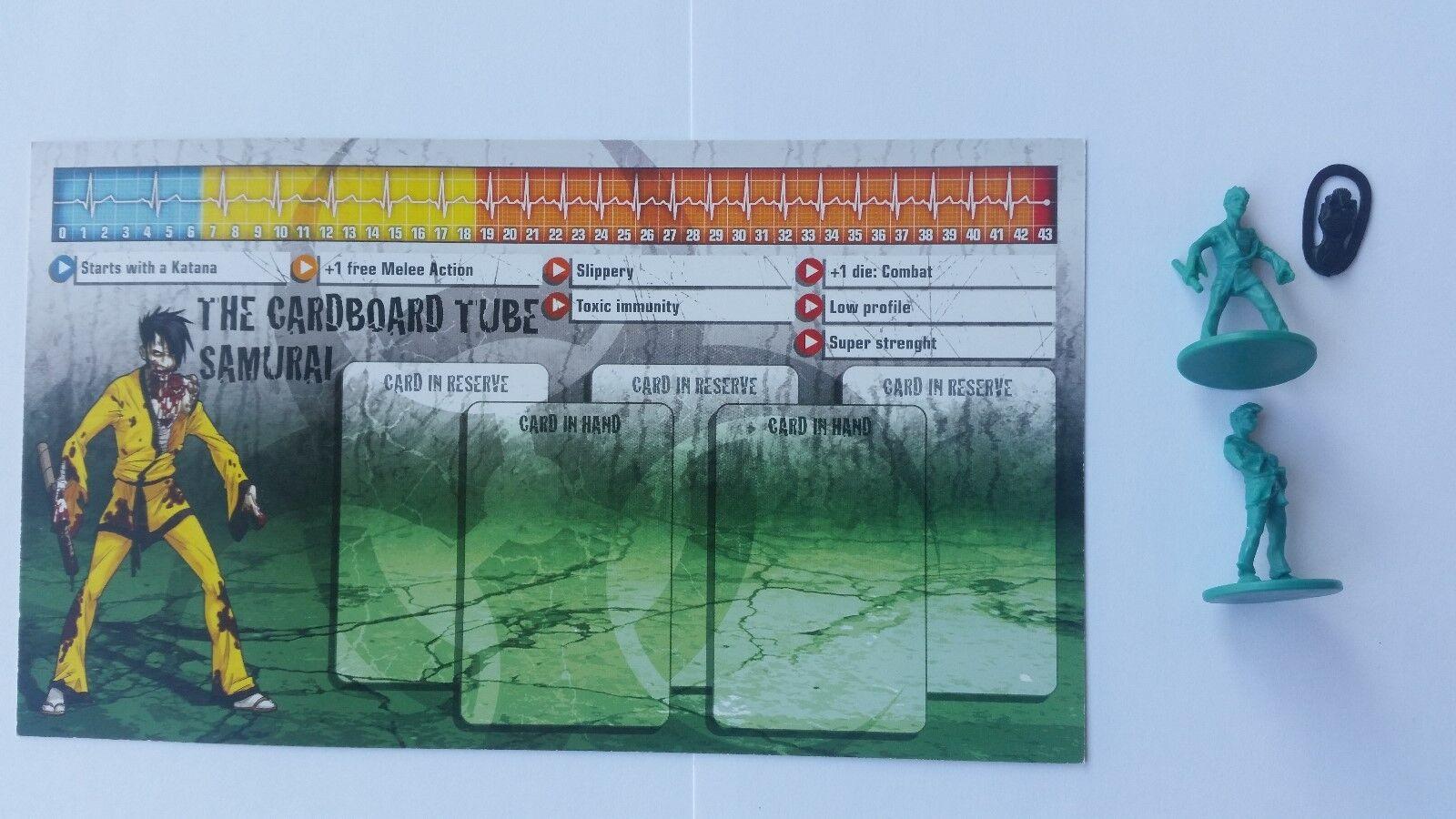 ZOMBICIDE PROMO SEASON 1 CARDBOARD TUBE SAMURAI, A ESTRENAR    NEW