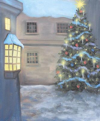 45-633 CHRISTMAS 10x20 FT MUSLIN SCENIC PHOTO BACKDROP SHOWROOM SAMPLE SALE