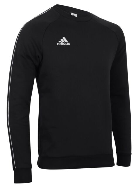 adidas Core 18 Sweat Top Black White M   eBay 4517ea716094