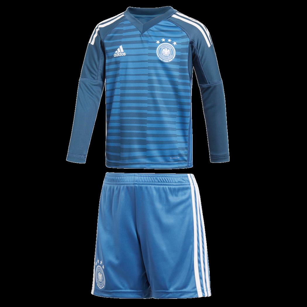Adidas DFB Deutschland Deutschland Deutschland Torwart Minikit Heimtrikot WM 2018 blau   weiß 8cdfa9