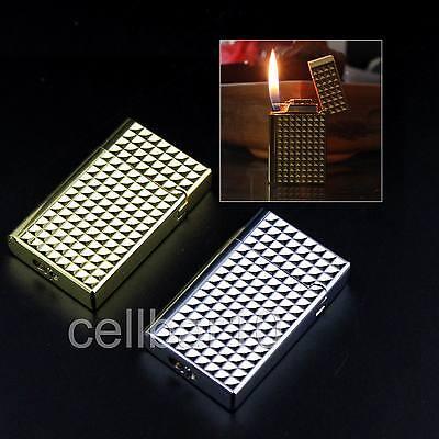 New Cool Check Pattern W/Bright Sound Cigarette Cigar Wheel Gas Butane Lighter