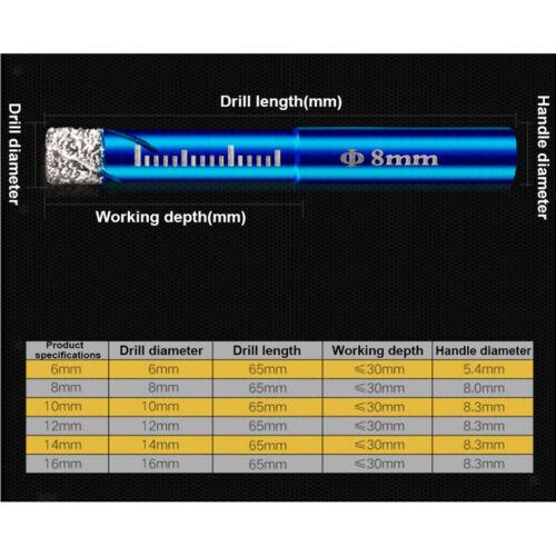 4x Diamantbohrkrone Diamantbohrer Kernbohrkrone für Fliesen Feinsteinzeug