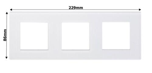 Point Nur Glasblende 3 Fach Glasrahmen Rahmen Glas Blende Weiß PBG3-11