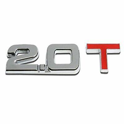 Aluminum 2.0T Chrome//Red Car Trunk Rear Fender Bumper Emblem Badge Decal Sticker