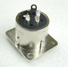 24 x XLR male Einbaubuchse D Typ 3 pol Einbaustecker Neutrik kompatibel 3-polig