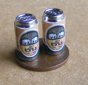 1:12 Scale Plastic Bottle With A Chang Beer Label Tumdee Dolls House Drink